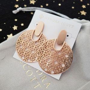 Kendra Scott Didi Rose Gold Statement Earrings